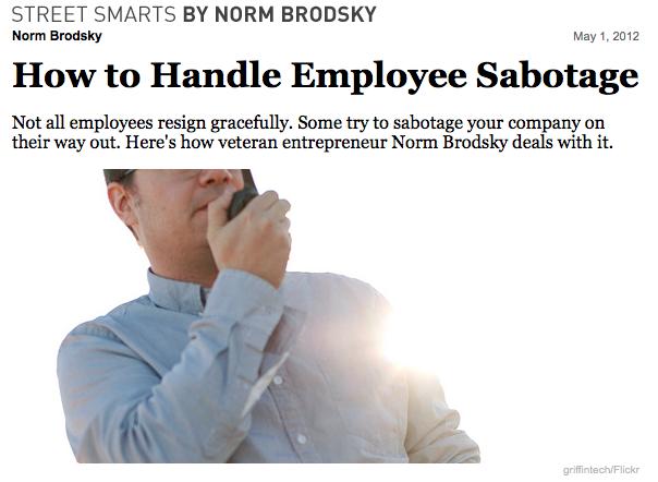 Lidiar con el sabotaje de empleados.